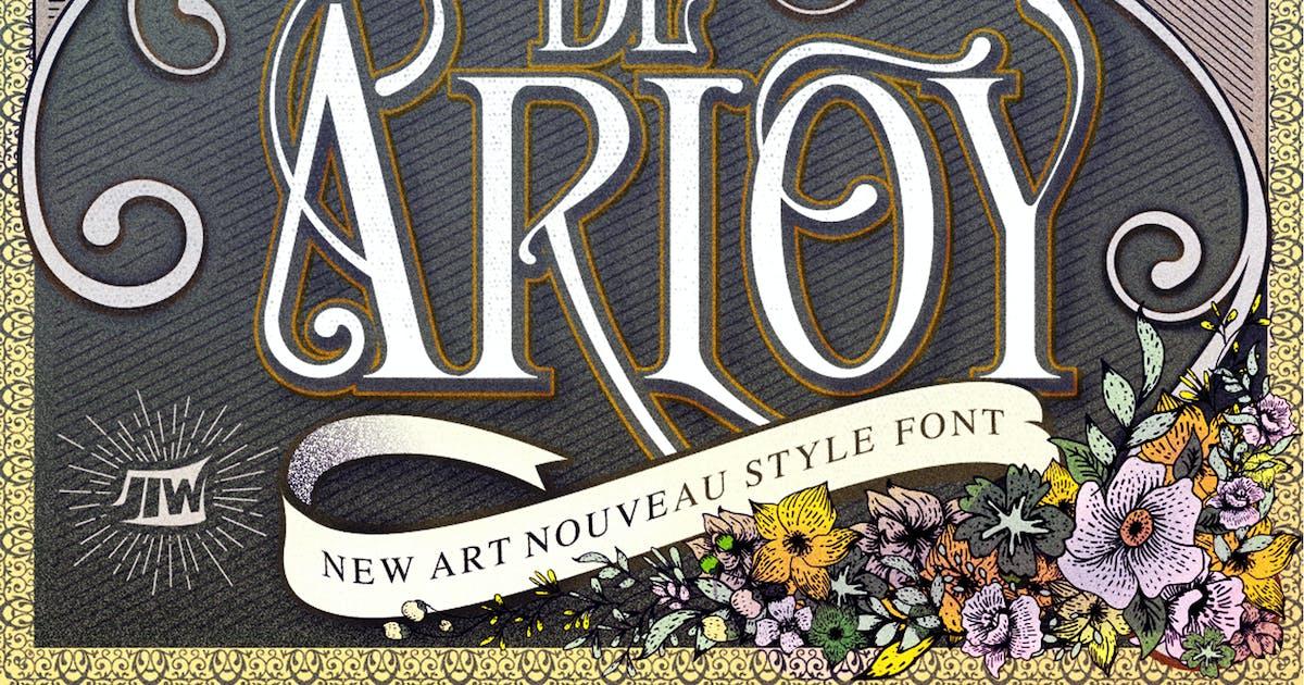 Download De Arloy Typeface   New Art Nouveau Style by Unknow