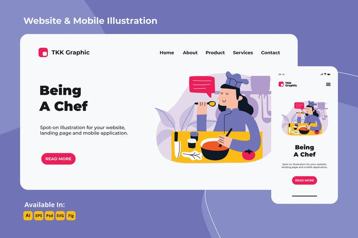 Thumbnail for Girl on the move campaign - Female Chef web&mobile