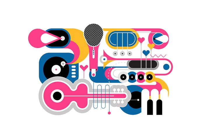 Thumbnail for Musical Instruments Flat Design