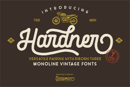 Hardner | Tipo de letra vintage