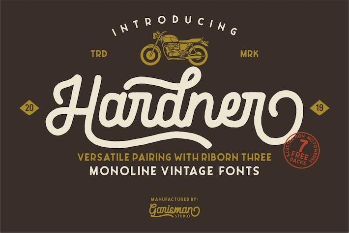 Thumbnail for Hardner   Vintage Typeface