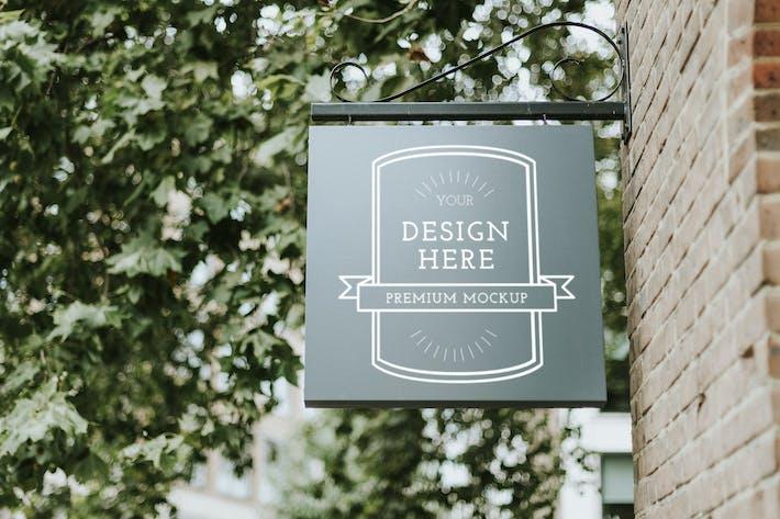 Coffee shop premium quality board mockup