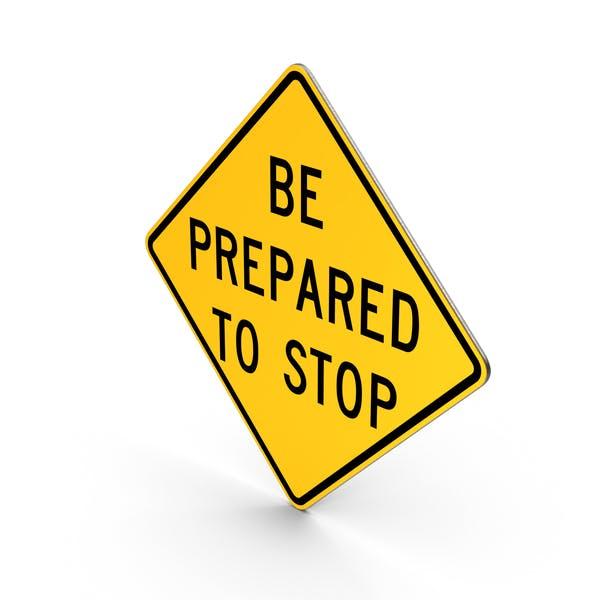 Señal de estar preparado para detener