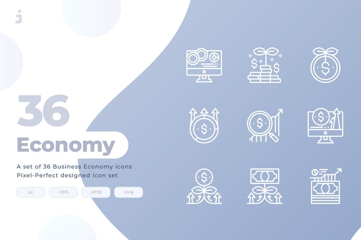 Thumbnail for 36 Business and Investment icons