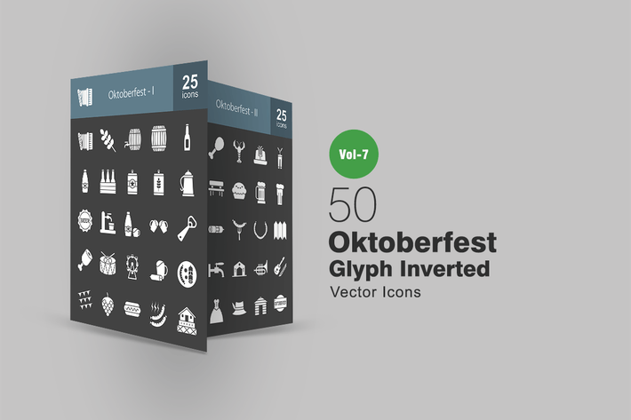 Thumbnail for 50 Oktoberfest Glyph Inverted Icons