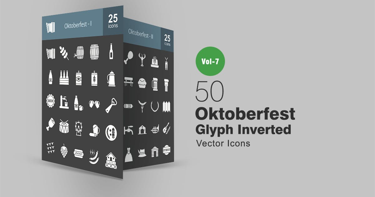 Download 50 Oktoberfest Glyph Inverted Icons by Unknow