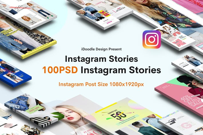 Thumbnail for Моды Instagram Истории - 100 PSD