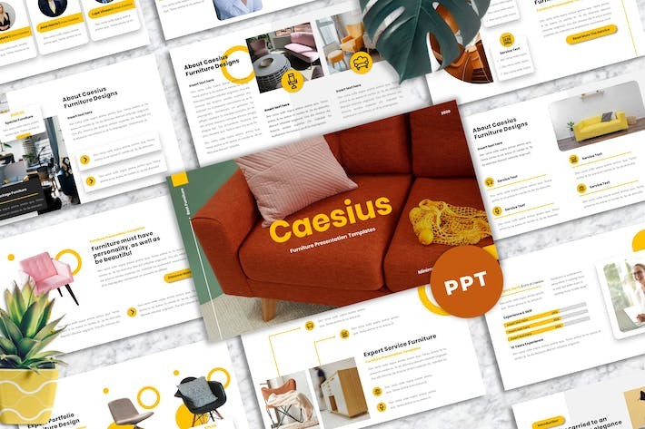 Caesius  - Furniture Powerpoint Templates