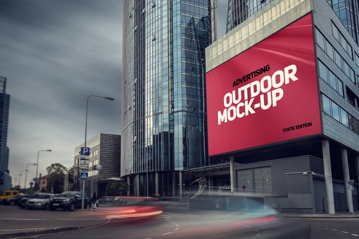 Thumbnail for Animated Outdoor Advertising Mockup