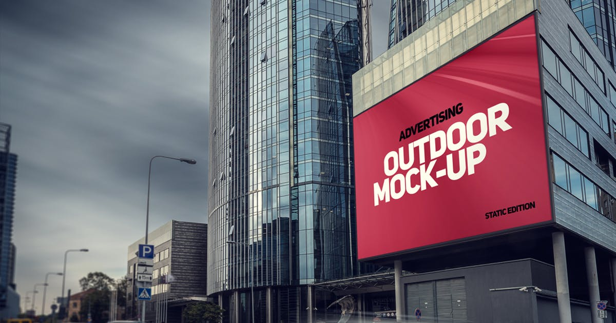 Download Animated Outdoor Advertising Mockup by Genetic96