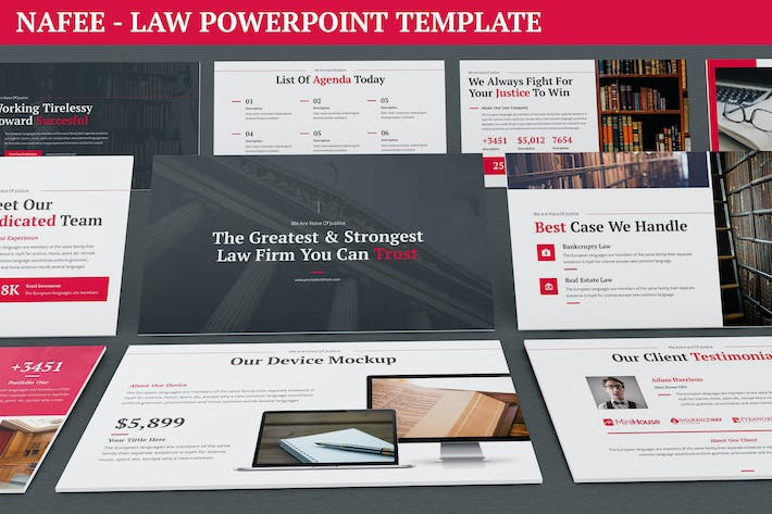 Thumbnail for Nafee - Law Powerpoint Template