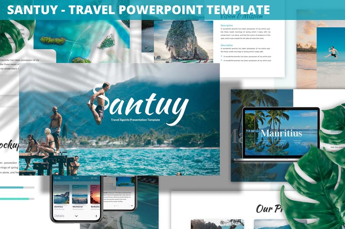 Thumbnail for Santuy - Travel Powerpoint Template