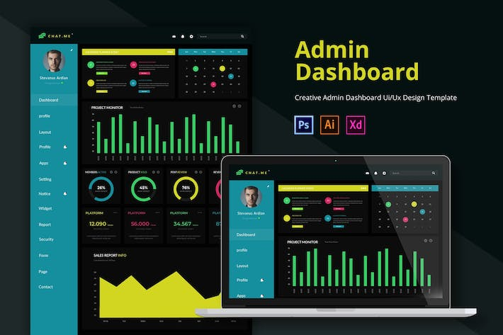 Thumbnail for Chatme Admin Page Template