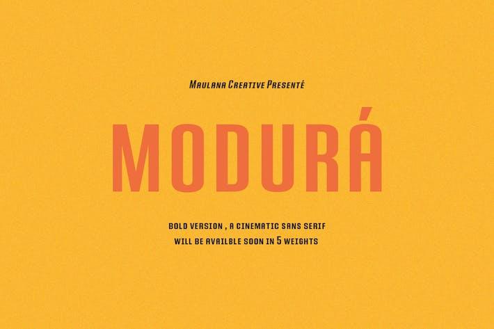 Thumbnail for Modura Sans Font