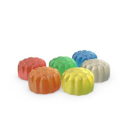 Kleiner Haufen Gummy Cylinder Candy