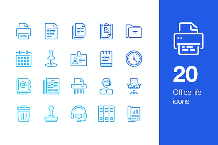 Thumbnail for 20 Office life icons