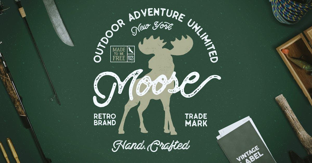 Download Moose Vintage Logo Template / Label by JeksonJS