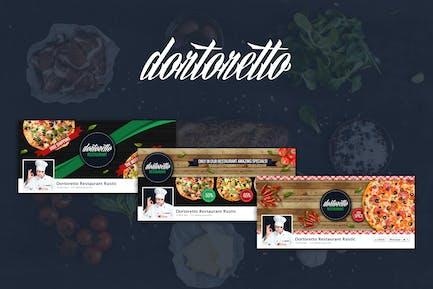 Dortoretto Restaurant –  Facebook Rustic Cover