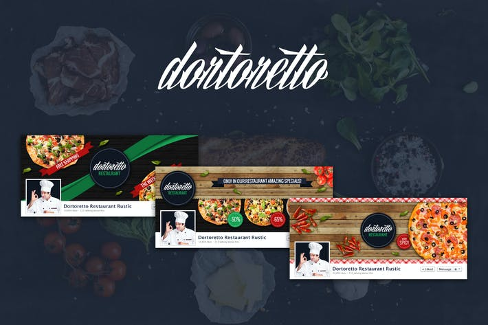 Thumbnail for Dortoretto Restaurant –  Facebook Rustic Cover