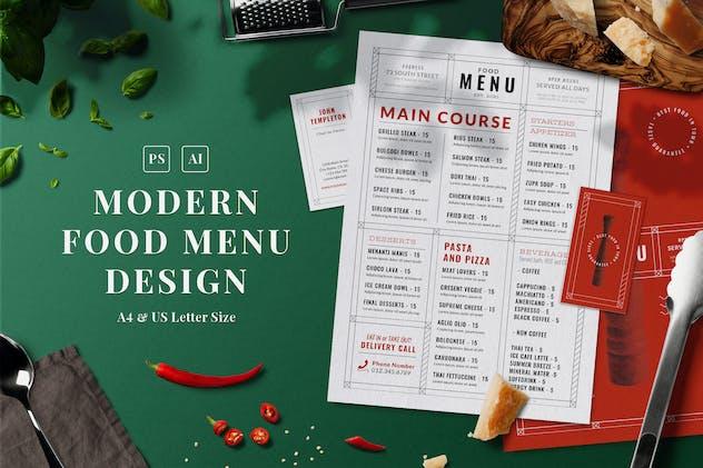 Modern Food Menu - product preview 0