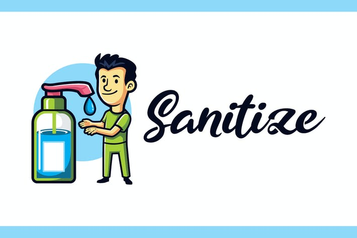 Sanitize - Medical and Healthcare Mascot Logo