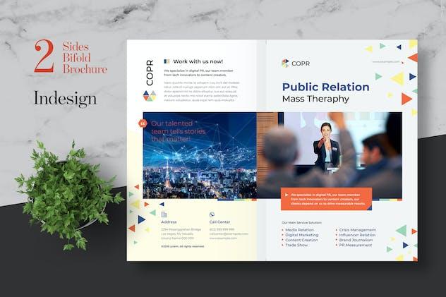 Clean Public Relation Bifold Brochure