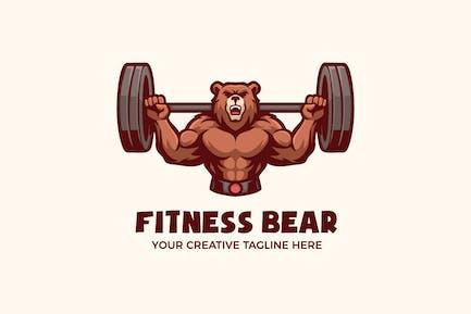 Fitness Healthy Sport Mascot Character Logo