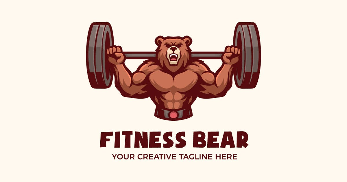 Download Fitness Healthy Sport Mascot Character Logo by MightyFire_STD