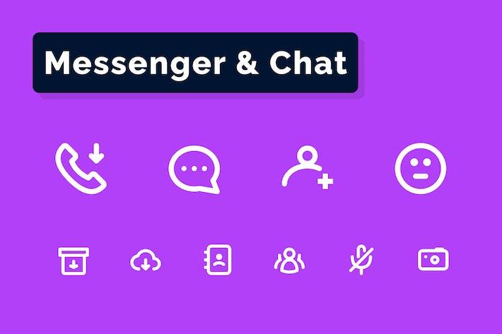 Messenger & Chat Icons Set