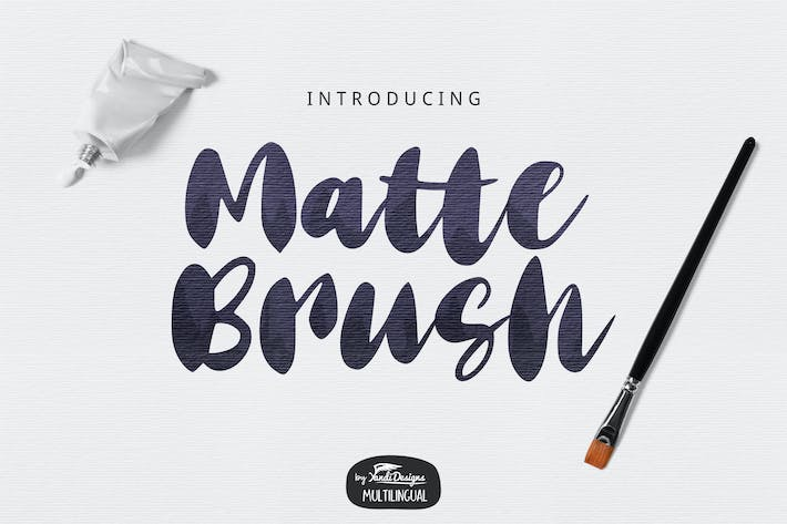 Thumbnail for Matte Brush Font