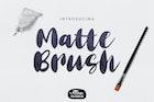 Matte Brush Font