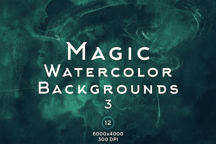 Thumbnail for Magic Watercolor Backgrounds 3