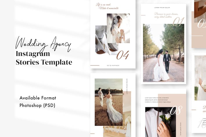 Thumbnail for Wedding Agency Instagram Stories Template