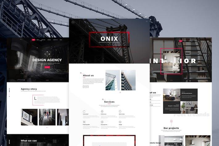Thumbnail for Onix - Design / Interior / Portfolio PSD Template