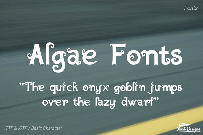 Thumbnail for Algae Fantasy Fonts