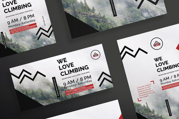 Thumbnail for Mountain Tours Flyer and Poster Template