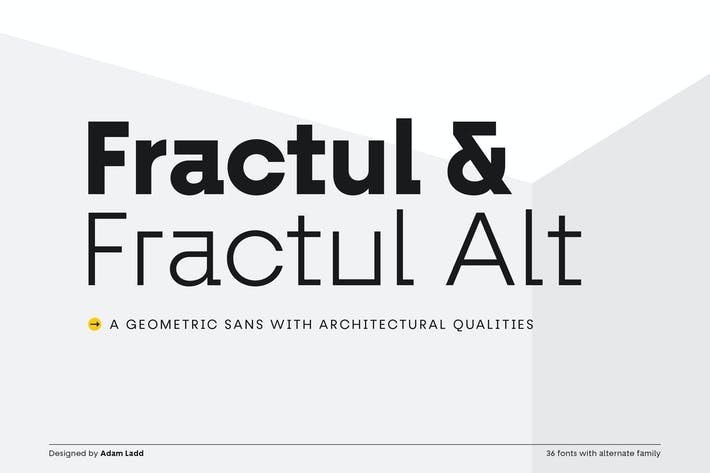 Cover Image For Fractul Font Family