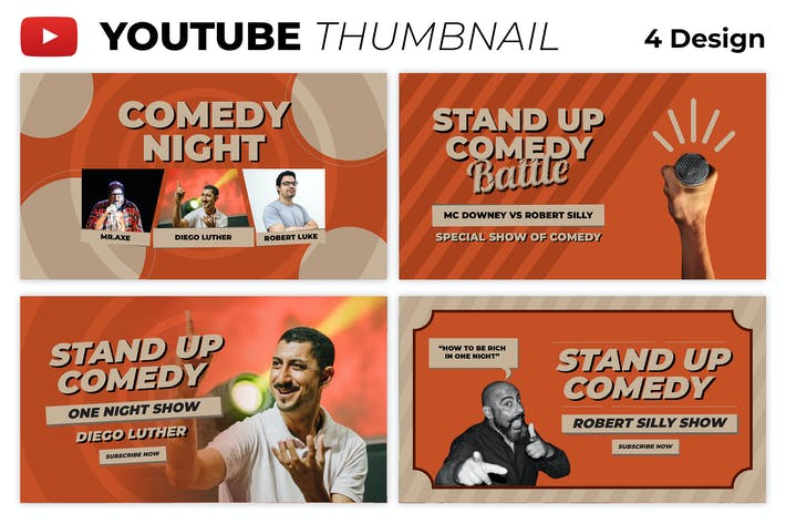 Stand Up Comedy Night Youtube Thumbnail Template