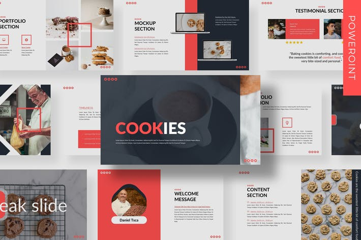 Cover Image For Cookies  - Business Powerpoint Template
