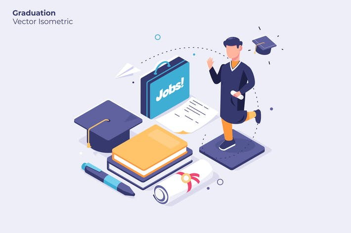 Graduation - Vector Illustration