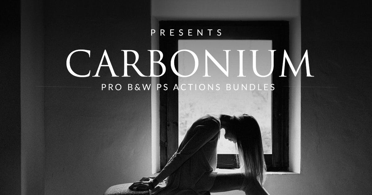 Download Carbonium - Black & White PS Actions by micromove
