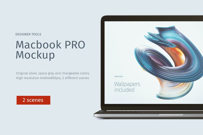 Thumbnail for Macbook PRO Mockup Front & Top views
