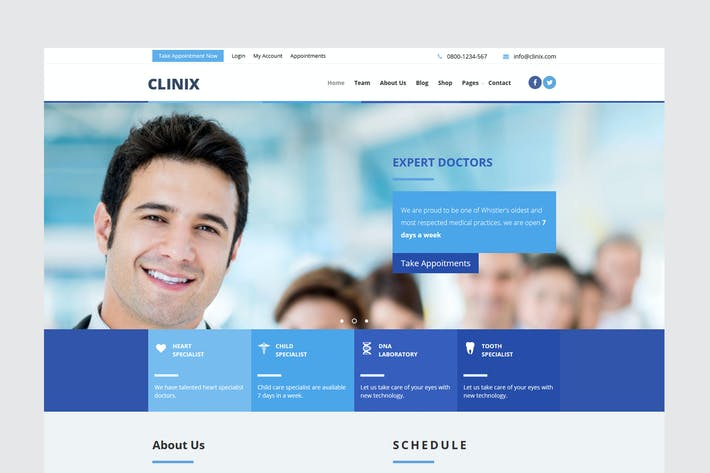 Thumbnail for CLINIX Medical Unbounce Landing Page