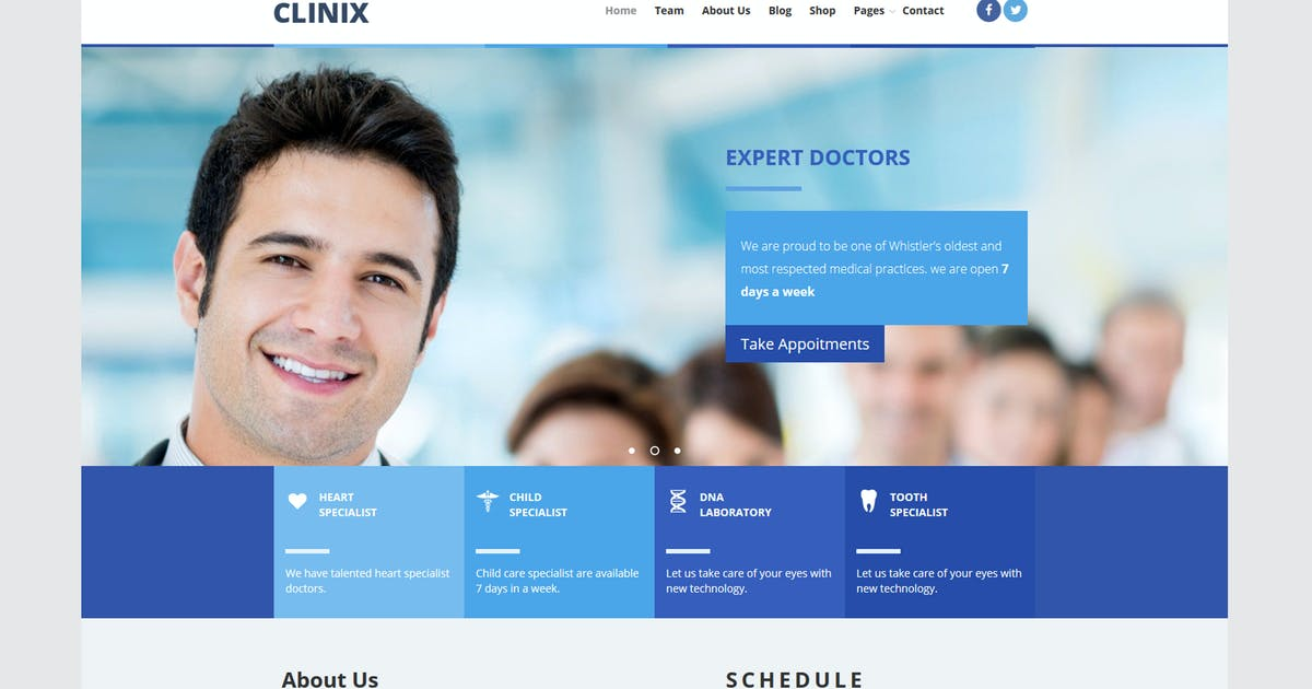 Download CLINIX Medical Unbounce Landing Page by xvelopers