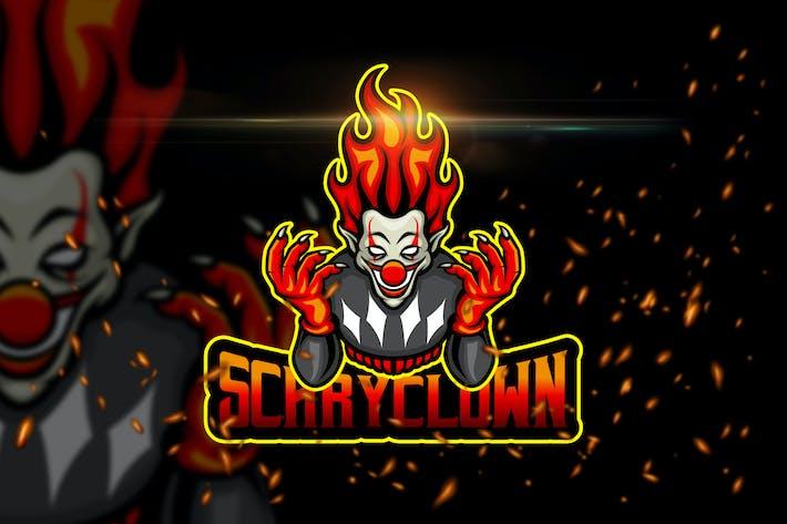 Thumbnail for Scary Clown - AI & PSD Esport Logo Template