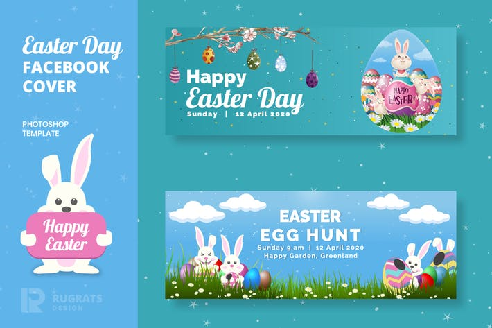 Thumbnail for Easter Day R1 Facebook Cover Template