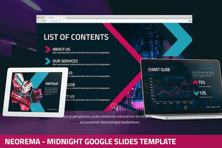 Thumbnail for Neorema - Midnight Google Slides Template