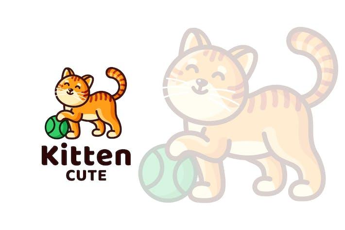 Thumbnail for Kitten Cute Kids Logo Template