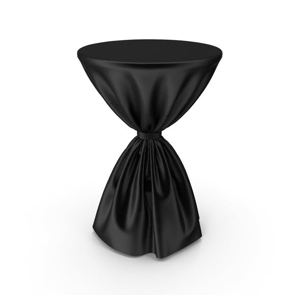 Black Silk Tablecloth Cocktail Table