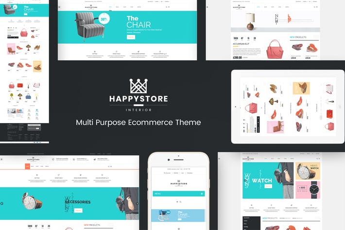 Thumbnail for HappyStore - WordPress WooCommerce Theme